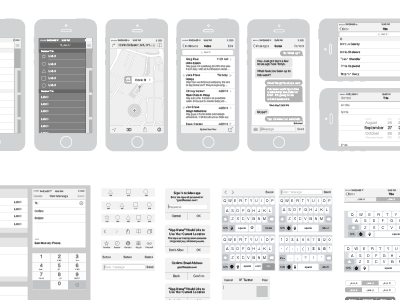iPhone Vector Wireframing Toolkit Vector