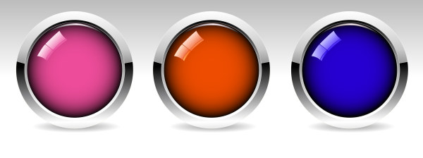 Glossy Glass Button Set Vector