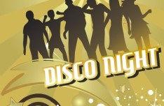 Disco Night Flyer Template Vector