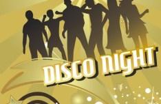 Disco Night Flyer Template Vector