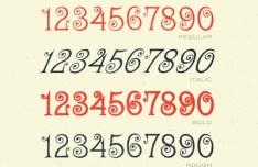 Creative Numbers Design Vector