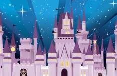 Vector Cartoon Disney Castle