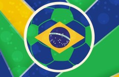 Brazil FIFA World Cup Themed Background Vector