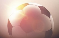 Soccer Ball Under The Sunshine Vector Illustration