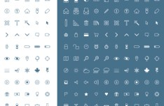 100 Simple UI Icons Set Vector