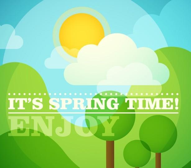 Enjoy Spring Time Vector Illustration
