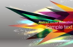 Abstract Colorful Spikes Background Vector