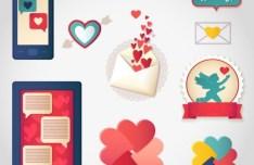 Lover Heart Design Elements Vector