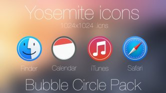 Bubble Circle Yosemite Icon Pack #1