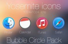 Bubble Circle Yosemite Icon Pack #1