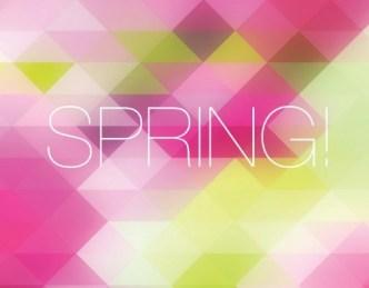 Fresh Spring Geometry Background Vector 02