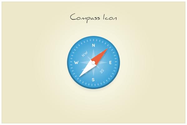 Free Clean Compass/Safari Icon PSD - TitanUI