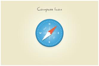 Clean Compass Safari Icon PSD