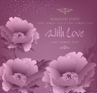 Elegant Flower Background For Romantic Event Vector 04