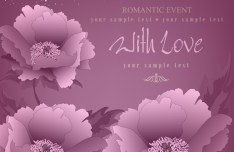 Elegant Flower Background For Romantic Event Vector 04