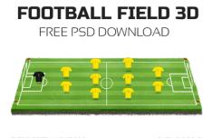 3D Football Field PSD
