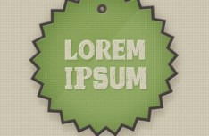 Vintage Badge Sticker Set PSD