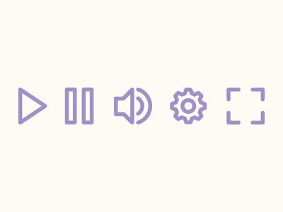 Video Player Control UI Vector