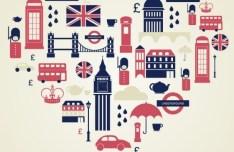 Vector Heart Of London Tourism Landmarks