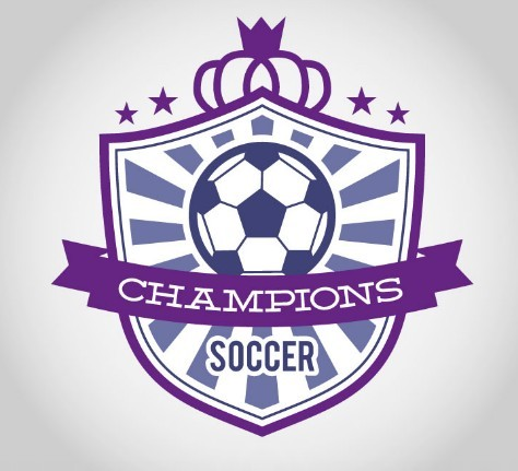 Soccer Champions Badge Vector