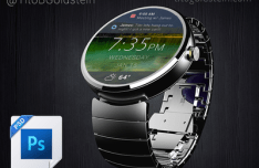 Android Wear Smartwatch Mockup PSD