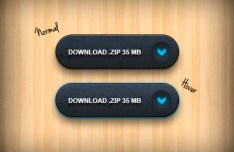 Dark Download Buttons PSD