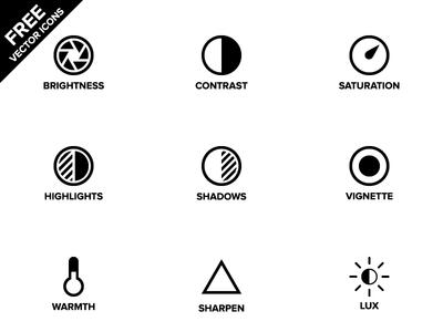 Instagram Tools Icon Set Vector