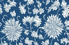 Vintage Chinese Flower Pattern