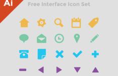 Interface Icon Set Vector