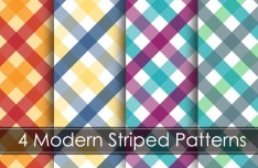 4 Modern Striped Patterns Vector