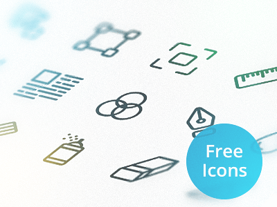 15 Simple Line Icons (PSD+Vector)