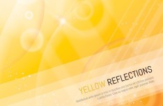 Yellow Reflections Background Vector