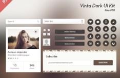 Vinta Dark UI Kit PSD