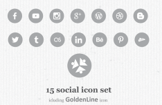 15 Minimal Circular Social Flat Icons