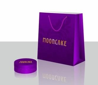 Violet Shopping Bag Template Vector