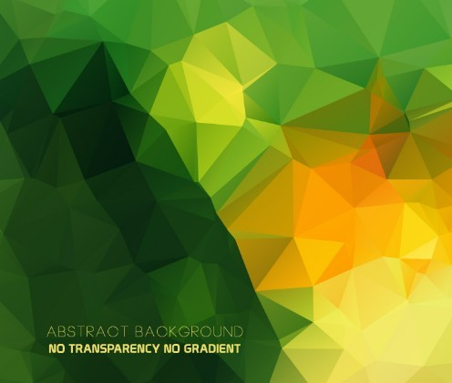 Abstract Green Low Poly Background Vector