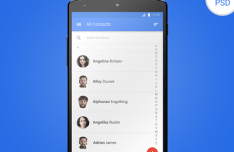 Android Material Design Interface PSD