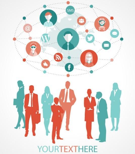 Business Activities Background Vector
