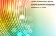 Rainbow Curves Background Vector