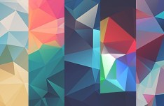 10 Colorful Low Poly Textures