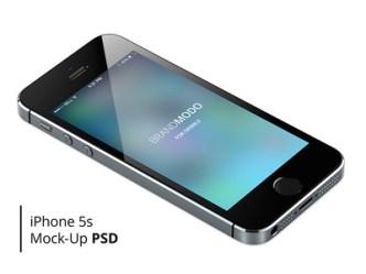 Glossy iPhone 5S Mockup