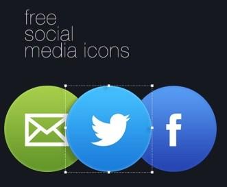 Clean Circle Social Icons PSD