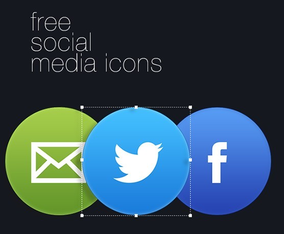 Clean Circle Social Icons PSD