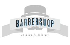 Barbershop Typeface Vector