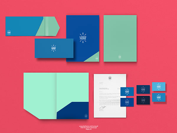 free simple stationary mockup template psd titanui