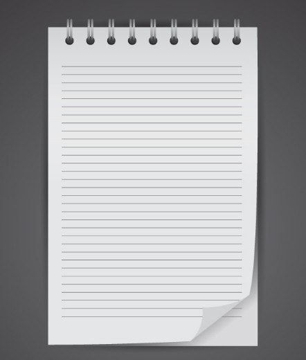 Scratch Pad Mockup Vector
