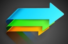 Colorful 3D Arrows Vector