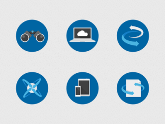 6 Flat Technology Icons Vector