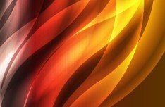 Bright Orange Abstract Curves Background 05