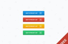 Colorful Add To Button Templates PSD